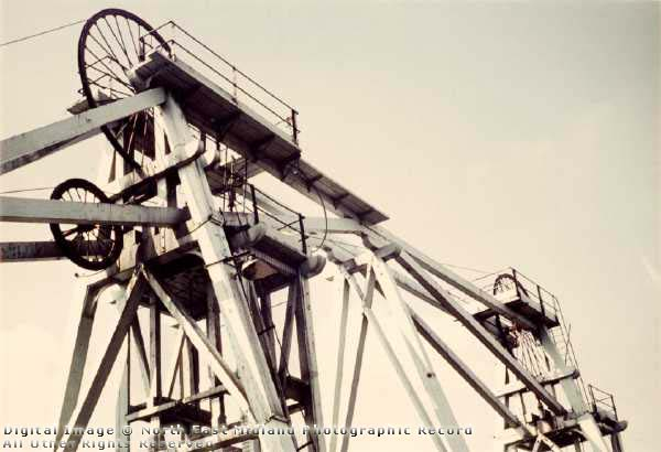 The headstock at Brinsley Colliery