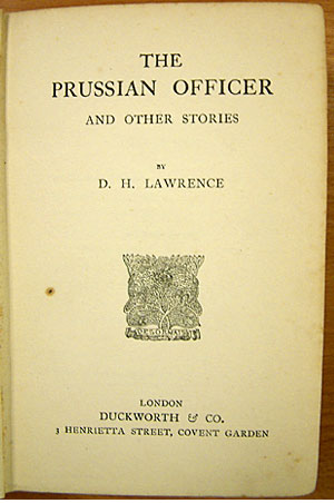 Title page of 'The Prussian Officer and Other Stories'